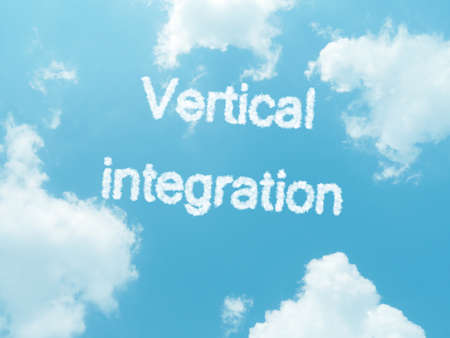 uniformity: cloud words with design on blue sky background