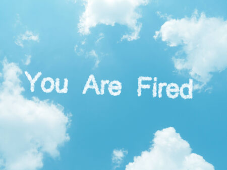 employment elementary school: cloud words with design on blue sky background