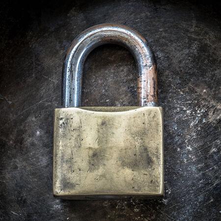 Old padlock photo