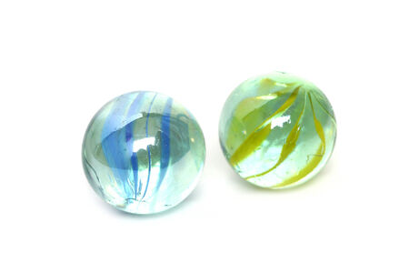 glass marble ball isolated on white
