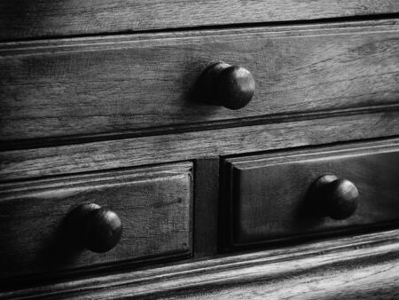 drawers: black and white wooden drawers
