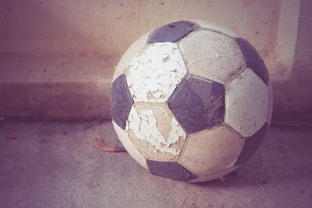 retro: old foot ball with filter effect retro vintage style
