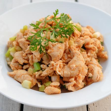 thai food: Larb, mince with spicy taste, Thai food Stock Photo