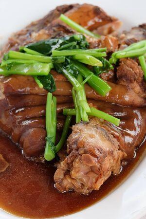 stewed: Stewed Pork Leg with coriander