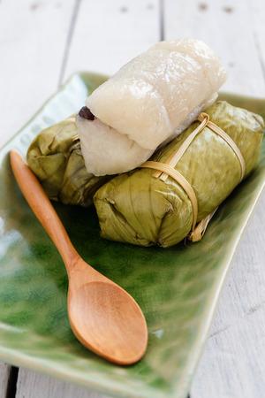 mush: Thai Sweets  bunch of mush with banana filling