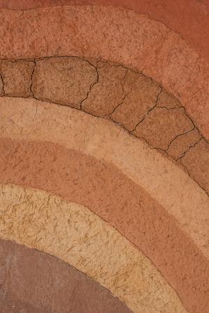 turf: peat soil as a background Stockfoto