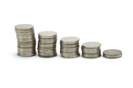 coin stack: coin stack on white background