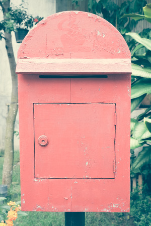 united states postal service: Mailboxes with filter effect retro vintage sty