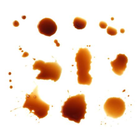 fleck: coffee stain on white background Stock Photo