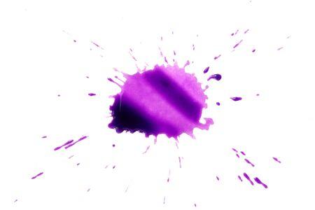 splutter: Drops of purple on a white background