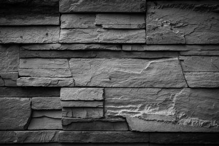 stone wall: Black wall stone background
