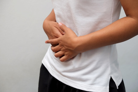 stomach: Close-up Of Woman Suffering From Stomach Ache