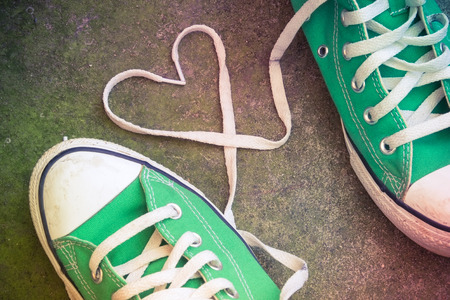 swain: sneakers with heart with filter effect retro vintage style