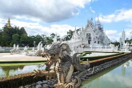chiangrai: Wat Rong Khun,Chiangrai, Thailand Stock Photo