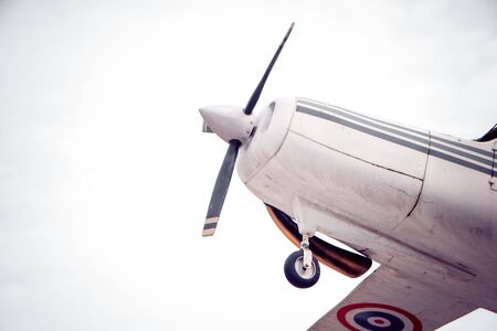 propellers: aircraft with a motor-driven propellers with filter effect retro vintage style