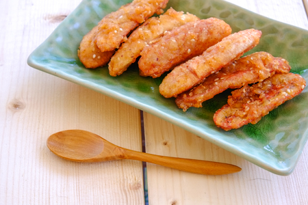 thai culture: Thai snack sweetened fried banana fritters