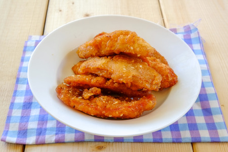 sweetened: Thai snack sweetened fried banana fritters