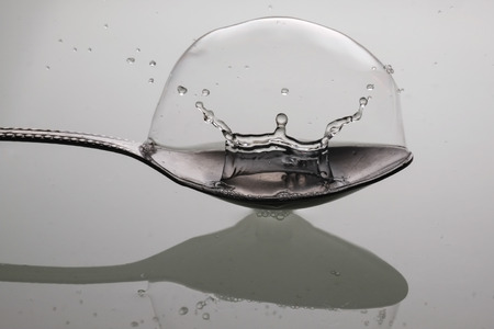 drop in: water drop in Spoon