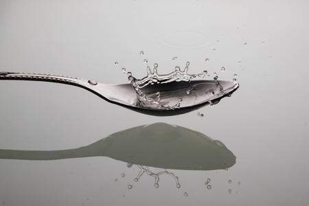 drop water: water drop in Spoon