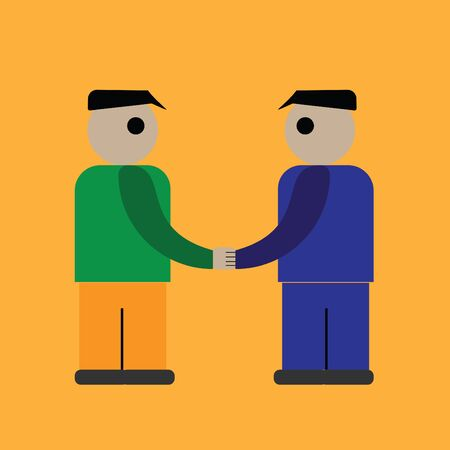 equal opportunity: Shaking hands business illustration