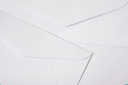 White envelopes texture background