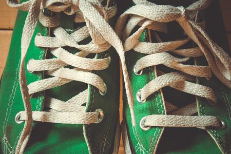 scarpe da ginnastica con effetto filtro stile vintage retrò Archivio Fotografico