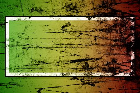 rastafari: grunge background reggae colors green, yellow, red