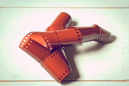 negative film: 35mm negative film with filter effect retro vintage style