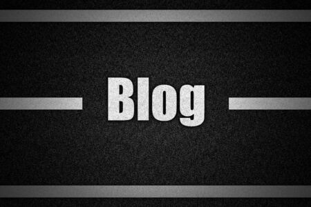 weblog: Traffic  road surface with text Blog