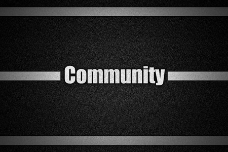 bookmarking: Traffic  road surface with text Community
