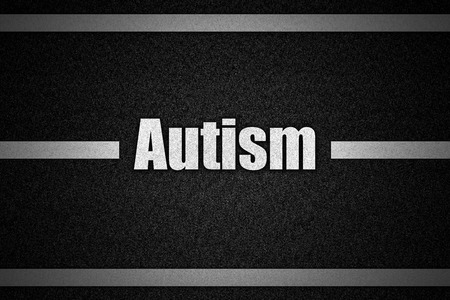 road surface: Traffic  road surface with text Autism