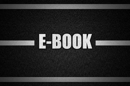 road surface: Traffic  road surface with text E-BOOK