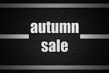 road surface: Traffic  road surface with text autumn sale