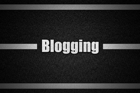 bookmarking: Traffic  road surface with text Blogging