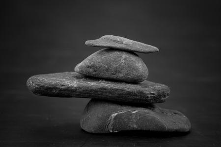 macro stones scene, zen like concepts Stock Photo