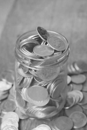 save money for investment concept  with filter effect blabk and white style Stock Photo