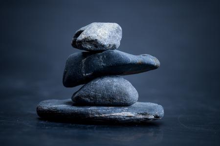 piedras macro escena, Zen como conceptos