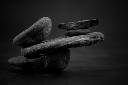 zen like: macro stones scene, zen like concepts Stock Photo
