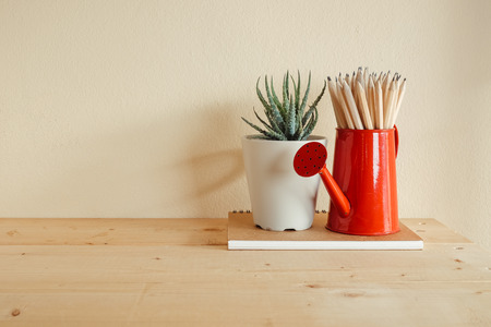 Concept of education or back to school Pencil on wooden background table