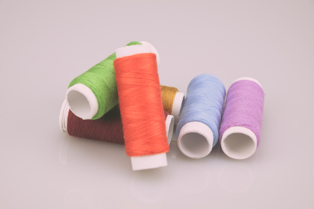 thread rolls with filter effect retro vintage style