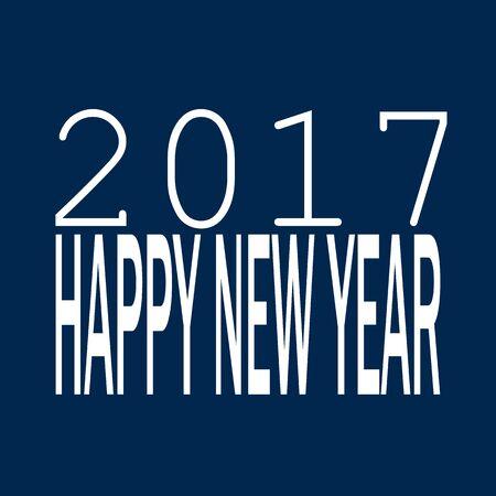 glistening: 2017 happy new year concept
