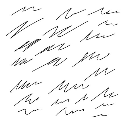 pencils  clutter: Set of vector Abstract hand drawn ink strokes
