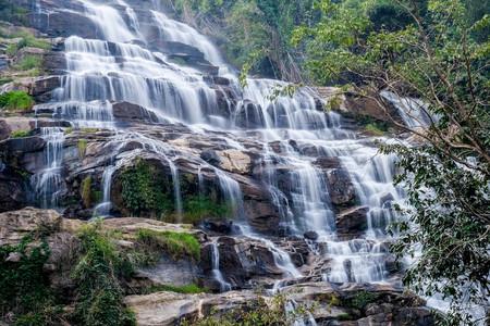 Mae ya waterfall, Doi Inthanon National Park, Chiangmai, Thailand Stock Photo