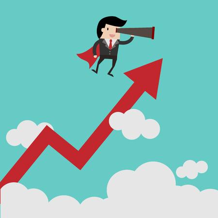 Le financement des entreprises vectorielles. Concept d'entreprise réussie, dessin animé. Illustration vectorielle de dessin animé pour la conception d'entreprise