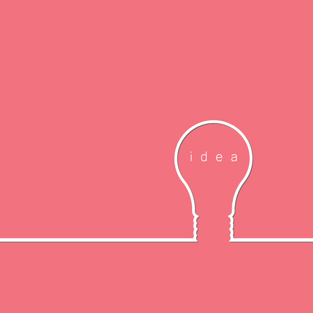 Bulb light idea concept