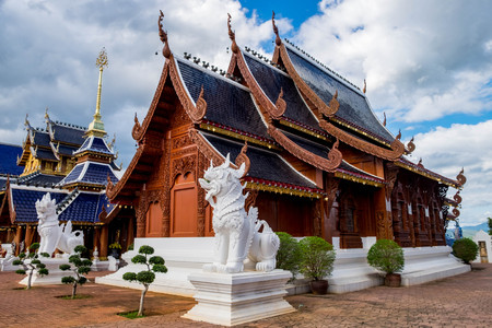 Ban Den temple is a Thai temple which is located in the northern part of Thailand It is one of the most beautiful and famous Thai temples in Chiang Mai