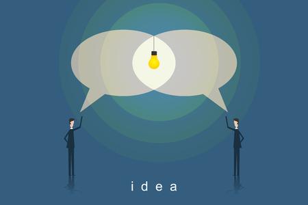 New idea innovation and unique way concept
