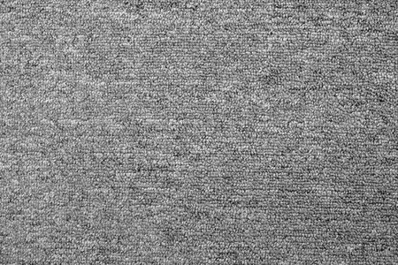 close up of monochrome grey carpet texture background from above Stock Photo