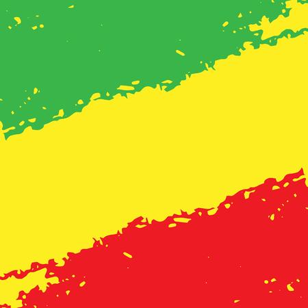 추상 그런 지 긁힌 된 질감 배경을 그렸습니다. EPS10 벡터 일러스트 레이 션 레게 색상 녹색, 노란색, 빨간색