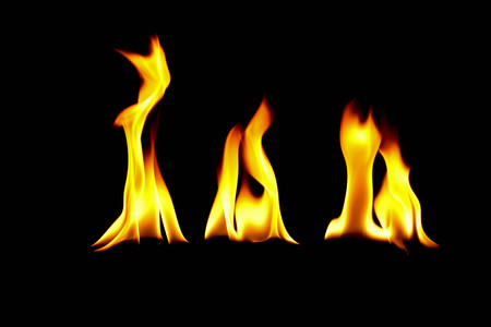very hot fire abstract background. fire on the black background. Reklamní fotografie - 97595075